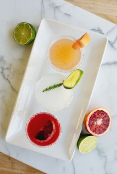 Mini Margarita Flights: Fun idea for parties.