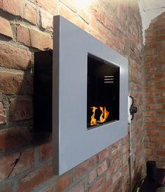 BBT@ / Metall-Gelkamin Midi Silber / Ethanolkamin für Brenngel oder Bio-Ethanol / Echtes Kamin-Feuer ohne Rauch Asche oder Staub / Inklusive Brennstoff-Dosen: Amazon.de: Baumarkt