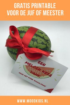 Melon veces gracias por el maestro o maestro (+ imprimible gratis - Little Presents, Diy Presents, Little Gifts, Craft Projects For Adults, Diy Craft Projects, Craft Ideas, Gag Gifts, Craft Gifts, 5 Diy Crafts