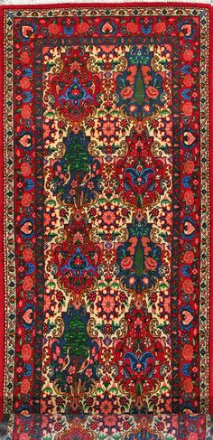 "Buy Bakhtiari Persian Rug 3'  2"" x 13'  3"", Authentic Bakhtiari Handmade Rug"
