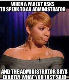 When admin backs you