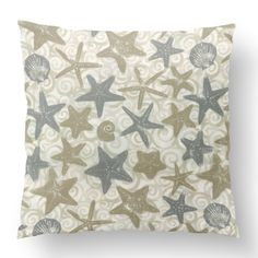 Custom Outdoor She Sells Sea Shells Cushion She Sells Sea Shells Item# Polyester Cover Polyester Fill Neutral Custom Outdoor Cushions, Sea Shells, Fill, Neutral, Shapes, Throw Pillows, Texture, Cover, Prints