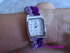 Micro Macrame, Square Watch, Watches, Accessories, Jewelry Crafts, Wristwatches, Clocks, Jewelry Accessories