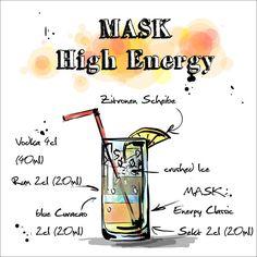 Wir haben heute für euch aus der #HAPPYHOUR Served by #MASK den #MASK High Energy.  Das ganze Rezept findet ihr hier: http://happyhour.mask-energy.com/High-Energy.pdf  Um euch euren benötigten Energy Kick für diesen Cocktail zu beschaffen, schaut in unserem #OnlineShop vorbei:   http://shop.mask-energy.com/startseite/mask-energy-drink-24x250ml-pfandfrei.html  Wir hoffen das euch der #MASK High Energy genauso gut schmeckt wie uns!