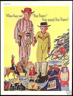 Vintage Christmas Ad for Roy Rogers Cowboy Boots 1956 Western Christmas, Christmas Toys, Retro Christmas, Christmas Music, Country Christmas, Christmas Christmas, Xmas, Vintage Christmas Images, Vintage Holiday