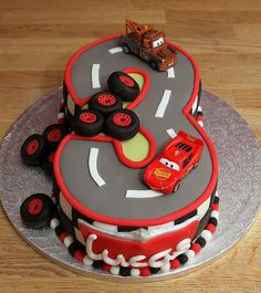 Disney cars Mcqueen cake 5 Car cakes Lightning mcqueen and Lightning