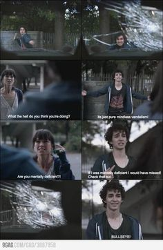 Robert Sheehan/Nathan Young in Misfits. You've gotta love this guy!