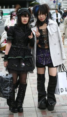 Girls out for a shopping stroll - and those are some boots :- xo