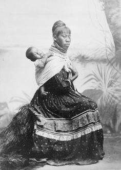 Seminole woman with baby, circa 1905. Original copyright by John Chamberlin. Library of Congress, Prints and Photographs Division,