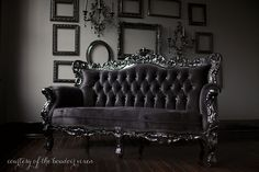This may well be the sofa from the Bourgeois Pig (Belle de Fleur French Love Seat - Black)