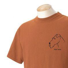 Irish Terrier Garment Dyed Cotton Tshirt by WryToastDesigns, $20.00