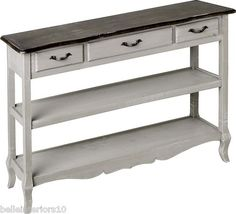 £265 PAINTED FRENCH GREY SHABBY CHIC RUSTIC KITCHEN/HALL/CONSOLE TABLE NOT PINE/OAK