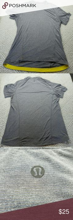 "Mens Lululemon Vent Tech Shirt *Read Discription* The size dot is worn away so I am taking an educated guess on the size. Measurements are below.  There are a few snags but when wearing are not noticeable.  Armpit to Armpit 21"" Length 34""  No trades but I love offers!  If something is priced at $4 I AM FIRM.  I sell every size in my closet so I can't model. But I will gladly answer any questions you have. Save more and bundle! lululemon athletica Shirts Tees - Short Sleeve"