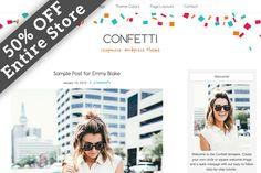 50% OFF Confetti WordPress Theme