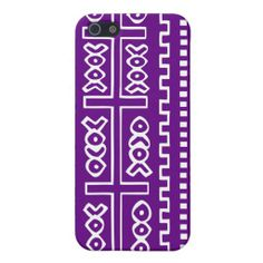 Purple Mudcloth iphone case cases for iPhone 5