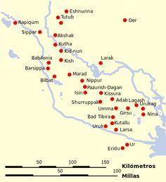 Ciudades de Sumeria - Sumeria - Wikipedia, la enciclopedia libre