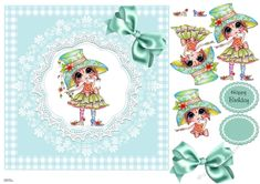 A sweet card design for any female. A little girl in her best dress and hat. Decoupage the figure and add a bow. Birthday Verses For Cards, Birthday Cards, Summer Birthday, Happy Birthday, Birthday Cake Prices, Printable Crafts, Knitted Bags, Card Designs, Nice Dresses