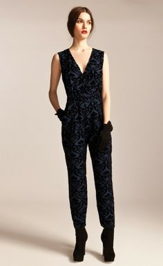 Esme Jumpsuit | Velvet Pattern Designer Jumpsuit | Temperley London