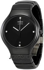 Rado True Jubile Black Diamond Dial Ceramic Mens Watch R27653742