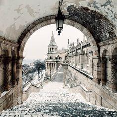 fisherman's bastion Крепость в Будапеште, Венгрия