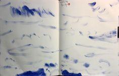 https://www.facebook.com/sahong.gum Drawing on Book, Gum-Sahong 금사홍, 드로잉, 북 , 기러기, 연꽃, 블루