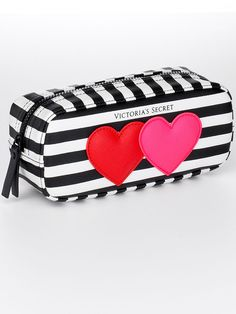 Shop beauty products and accessories by PINK & Victoria's Secret. Complete your look with our makeup, bath & body care, fragrances, accessories and more! Makeup Vs No Makeup, Makeup Bags, Pink Makeup, Unicorn Pencil Case, Victoria Secret Pajamas, Pouch Pattern, Small Heart, Printed Bags, Little Bag