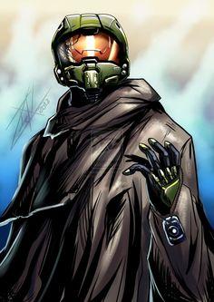 Halo 5 chief speedpainting by =WinterSpectrum on deviantART