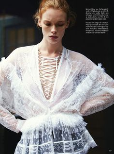 visual optimism; fashion editorials, shows, campaigns & more!: julia by dan martensen for vogue germany february 2015