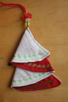 Weihnachtsbaum nähen, Tannenbaum geschenkanhänger oder Weihnachtsbaum Aufhänger