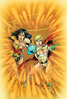 Wonder Woman and Power Girl by George Perez