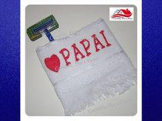 Lembrancinha Dia dos Pais toalha bordada