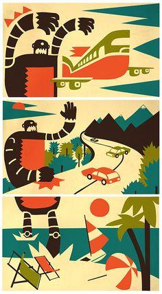 illustration / january-march 10 by iv orlov, via Behance