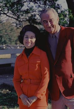 Portrait of former President Lyndon B. Johnson and Lady Bird Johnson, 1972.