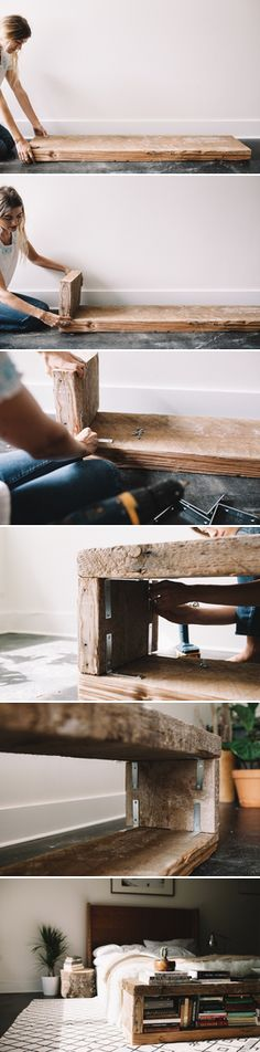 UO DIY: Reclaimed Book Bench