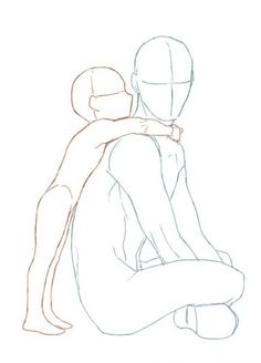 New Drawing Anime Poses Male 48 Ideas – Drawing Techniques Pencil Sketch Drawing, Drawing Base, Art Drawings Sketches, Easy Drawings, Drawing Drawing, Male Drawing, Charcoal Drawing, Hugging Drawing, Drawing Male Bodies