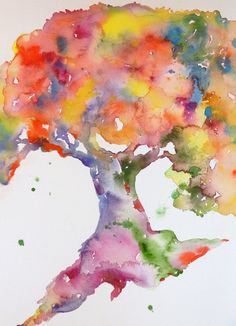 Watercolor Prints, Tree Painting, Painting of a Tree, Prints