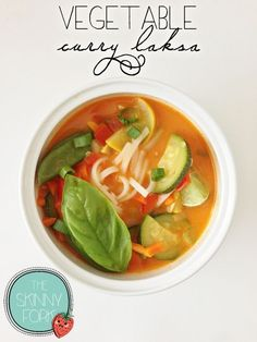 Vegetable curry laksa