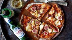 Viikuna-vuohenjuustopizza maistuu oluen kera!