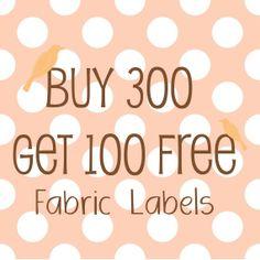 400 Handmade Sew On Cotton Fabric Labels 1x 1/2 di sbshop su Etsy, $48.00