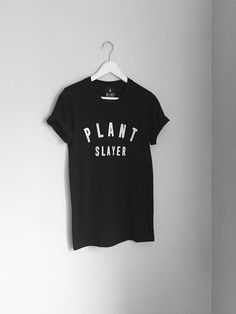 "Start slaying it in this short sleeve ""Plant Slayer"" tee. Vegan Fashion, Ethical Fashion, Cool Shirts, Awesome Shirts, Funny Shirts, Vegan Shopping, Vegan Clothing, Sport Fashion, Cool Outfits"