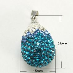 Polymer Clay Rhinestone Pendants, with Brass Findings and Middle East Rhinestone