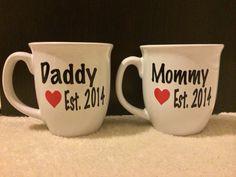 Daddy & Mommy Matching Coffee Mug Set on Etsy, $22.00
