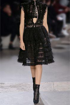 Alexander McQueen | Ruffled silk-blend lace dress