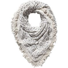 Fringed Scarf, found on #polyvore. #women