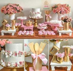New Shabby Chic Cake Table Ideas Bridal Shower Decorations, Wedding Decorations, Table Decorations, Cake Table, Dessert Table, Pasteles Shabby Chic, Shabby Chic Cakes, Shabby Chic Bedroom Furniture, Paper Toy