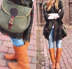 Blogger, Cella Jane pairs her Duluth Pack canvas Shell Bag with distressed denim and knee high boots. How do you style your Duluth Pack product?
