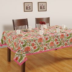 Enliven the interiors of your living space in peach blossom dining room table covers available online at best price from saavra.com. Free Shipping & COD Available.