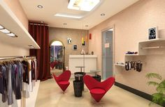 Small clothing store interior design