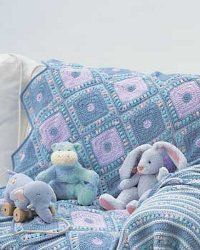 Baby Crochet Harlequin Blanket ~ free pattern