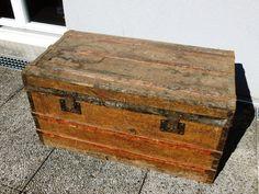 malle ancien valise coffre 1900 voyage carton fibre vulcanis e renforts bois m tal boh me. Black Bedroom Furniture Sets. Home Design Ideas